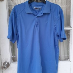 Ariat Tek Heat Series Blue Polo Shirt Sz S....in g